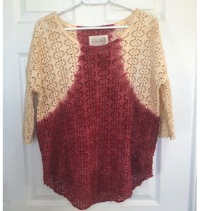 Free people / we the free ombré open knit top